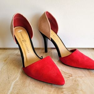Chinese Laundry suede heels 9 med